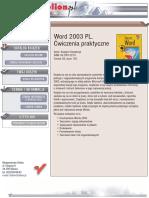 Word 2003 PL. Ćwiczenia praktyczne