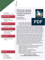 Klastry pracy awaryjnej w środowisku Windows. Instalacja, konfiguracja i zarządzanie