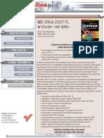 MS Office 2007 PL w biurze i nie tylko