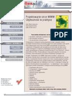 Projektowanie stron WWW. Użyteczność w praktyce