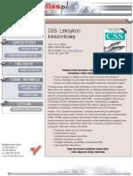 CSS. Leksykon kieszonkowy