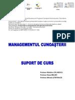 Suport de Curs Managementul Cunoasterii