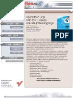 OpenOffice.ux.pl Calc 2.0. Funkcje arkusza kalkulacyjnego