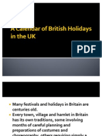 A Calendar of British Holidays in the UK
