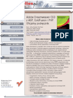 Adobe Dreamweaver CS3 z ASP, ColdFusion i PHP. Oficjalny podręcznik