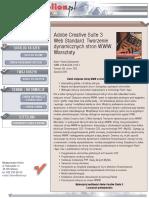 Adobe Creative Suite 3 Web Standard. Tworzenie dynamicznych stron WWW. Warsztaty
