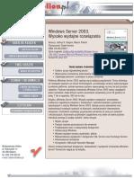 Windows Server 2003. Wysoko wydajne rozwiązania
