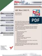 ABC Word 2003 PL