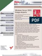 Windows Server 2003. Księga eksperta
