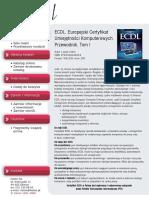 ECDL. Europejski Certyfikat Umiejętności Komputerowych. Przewodnik. Tom I