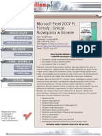 Microsoft Excel 2007 PL. Formuły i funkcje. Rozwiązania w biznesie