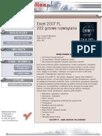 Excel 2007 PL. 222 gotowe rozwiązania