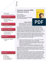Tworzenie serwisów WWW. Standardy sieciowe