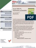 Excel 2003 PL. Ilustrowany przewodnik