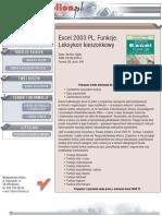 Excel 2003 PL. Funkcje. Leksykon kieszonkowy