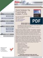 Oracle Database 10g. Programowanie w języku PL/SQL