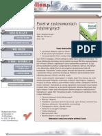 Excel w zastosowaniach inżynieryjnych