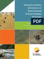 Valoracion Economica Del Turismo en El Snap Ecuador