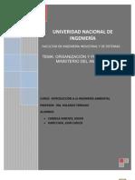 Organización y Funciones del Ministerio del Ambiente
