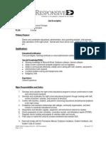 Campus Director - Night School - Job Description July 2011