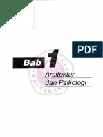 Bab1 Arsitekture Dan Psikologi