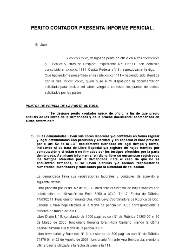 Dorable Plantilla De Informe De Contabilidad Motivo - Ejemplo De ...