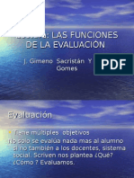 Funciones de Evaluacion