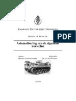 Axiomatisering van de Algemene Nucleolus