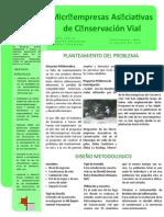 BOLETIN MICROEMPRESAS ASOCIATIVAS DE CONSERVACION VIAL (MEACV)
