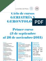 Ciclos de Cursos de Geriatría y Gerontología