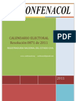 calendario electorial 2011