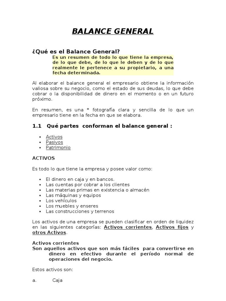 INFORMACION BASICA FINANCIERA