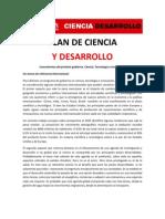 Plan de ciencia y desarrollo - Ricardo Alfonsín 2011