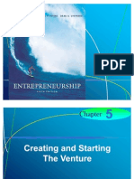 Chapter 5 - Creating and Starting  The Venture