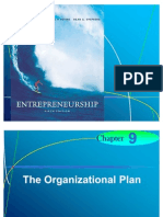 Chapter 9 - The Organizational Plan