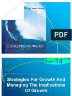 Chapter 14 - Strategies For Growth And Managing The Implications Of Growth