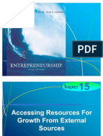 Chapter 15 - Accessing Resources For Growth From External Sources