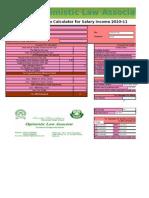 Salary Tax Calculator 2010-2011
