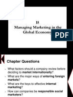 Chapter 18 - Managing Marketing in the Global Economy