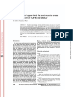 New Norms of Upper Limb Fat and Muscle Areas for Assessment of Nutritional Status