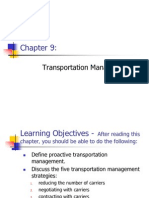 Chapter 9 - Transportation Management