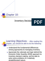 Chapter 10 - Inventory Decision Making