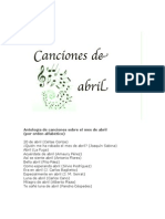 Canciones de abril
