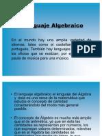 ecucines lenguaje algebraico