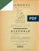 Georges Bataille et al - Acéphale 2 - Jan. 1937