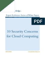 Concerns of Cloud Computing