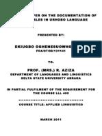 A LITERARY STUDY OF ODOVAN, AN URHOBO ART FORM | Theatre