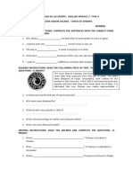 Modulo 7. Examen Especial, Typo A
