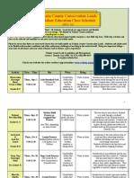 VCCL Class Schedule 2011-12
