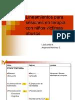 Lineamientos para sesiones en terapia con niños victimas